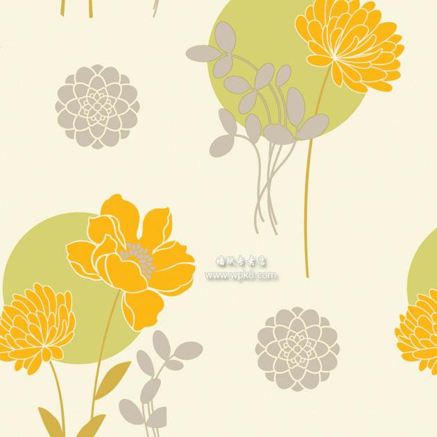 时尚大花墙纸,适合做背景墙用 9067-1-春色满园系列精美墙纸图片欣赏