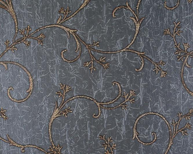 与灰紫色暗花纹壁纸和深紫色的格纹地毯相互呼应_亿库素材网
