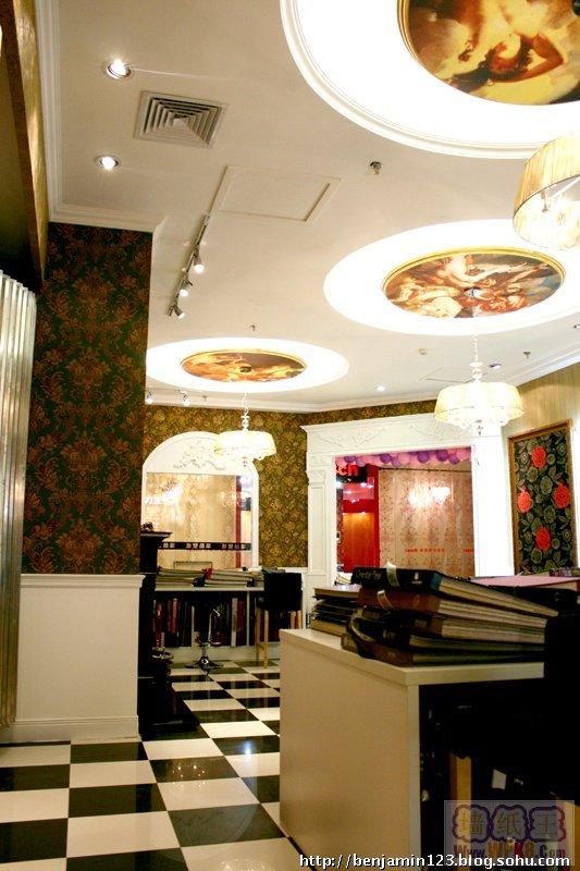 一个北京壁纸店的装修风格欣赏_墙纸王_赛万墙纸地毯
