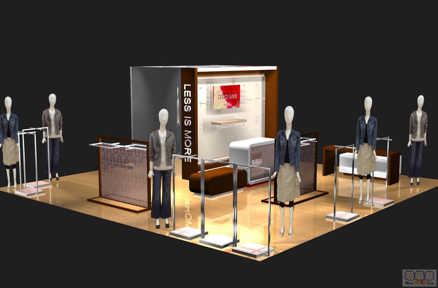 商场服装店铺装修设计图欣赏