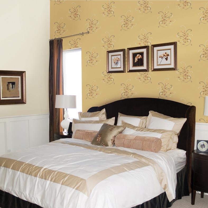 梅花墙纸卧室壁纸效果图欣赏1